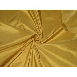 100% Pure SILK TAFFETA FABRIC Mustard Gold color TAF54[3]/TAF163