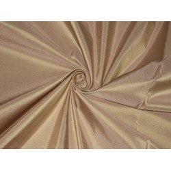100% Pure SILK TAFFETA FABRIC Light Salmon x Green Shot