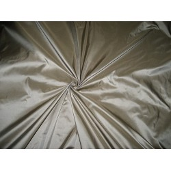 100% Pure SILK TAFFETA FABRIC Silver with Olive Shot