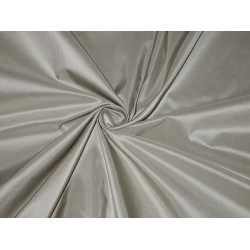 "100% Pure SILK TAFFETA FABRIC Light Silver 54"" wide"