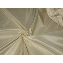 100% Pure SILK TAFFETA FABRIC Off White CreamTAF169