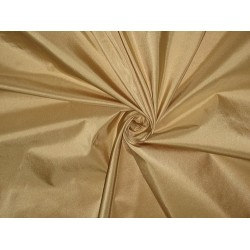 100% Pure SILK TAFFETA FABRIC Beigeish Gold color
