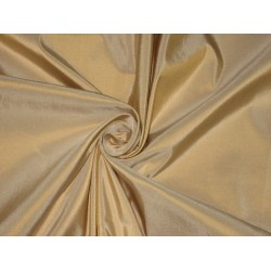 100% Pure SILK TAFFETA FABRIC Antique Gold Ivory Shot TAF#98[2] by the yard