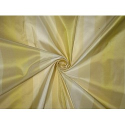 Silk Taffeta Fabric Butter,Cream,Ivory & Gold stripes 54 inches wide/137 cms sold by the yard