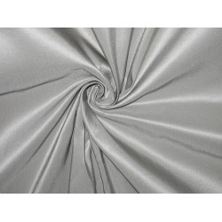 Pure SILK TAFFETA FABRIC Light Greyish Silver colour
