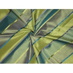 "Silk Taffeta Fabric Multi Colour with Satin stripes  54"" wide sold by the yard"
