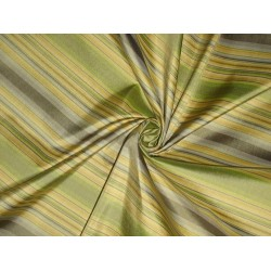 "Silk Taffeta Fabric Multi colour stripes 54"" wide sold by the yard"