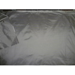 100%  Silk taffeta fabric grey horizontal stripes TAFS116 by the yard