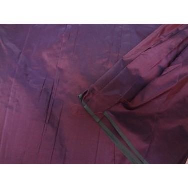 100% Pure SILK TAFFETA FABRIC brinjal purple x grey