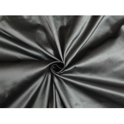 SILK TAFFETA FABRIC Dark silver grey x white 54""