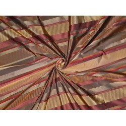 Silk Taffeta Fabric dark browns& satin stripes 54'' Taf S#125 by the yard