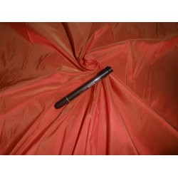 Pure SILK TAFFETA FABRIC orange x gold shot colour TAF90[2]2