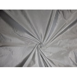 "Taffeta pin vertical stripe 54""-off white grey"
