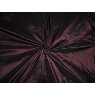 Silk taffeta fabric Seal brown x black iridescent 54""