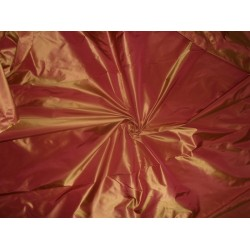 "Silk Taffeta fabric~ 60""~ Rust x Yellow Color  taf206"