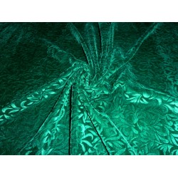 devore embossed  viscose  emerald green Velvet fabric  *