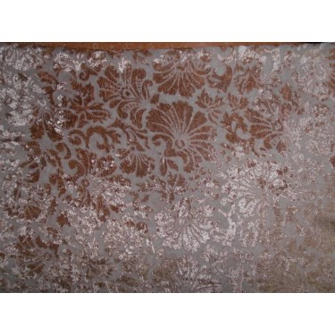 devore  burnout beige Velvet fabric