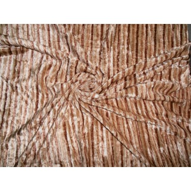 "100% crushed Velvet fabric 44""-discharge printed"