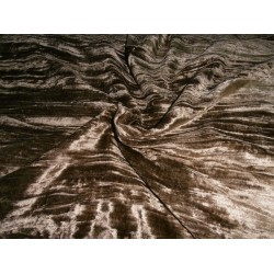 "100% crushed Velvet fabric 44"" antqiue gold crushed velvet"