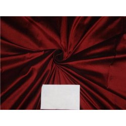 """100% Pure Silk Dupioni Fabric 54"""" Wine x Black Color DUP62[4] by the yard"""
