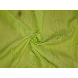 "Neon Green Linen Fabric 54"" Embroidered"