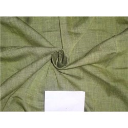 Two Tone Green x Black Color Linen Fabric 54""