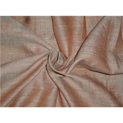 Two Tone Rusty x Mint Color Linen Fabric 54""