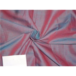 """Two Tone Red x Blue Color Linen Fabric 54"""""""