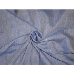 "Two Tone Blue x Ivory Color Linen Fabric 54"" Cut Length 2.15yrd"