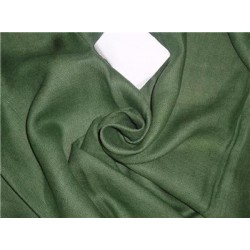 "Heavy Linen Dark Green Color Fabric 58"" Cut Length of 1.40 yards"