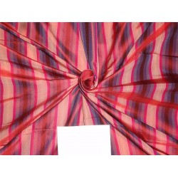 100%Pure Silk Taffeta Fabric Purple,Pink x Red Color Cut Lenght 1.90