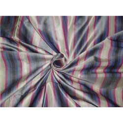 100%Pure Silk Taffeta Fabric Blue,Pink x Green Color Cut Length 1.55
