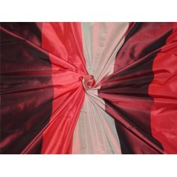 100% Pure Silk Taffeta Fabric Wine,Black x Blush Cut Length 3.25