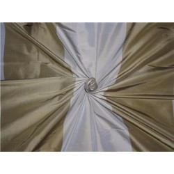 100% Pure Silk Taffeta Fabric Dusty Green x Beige Color