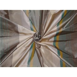 100% Pure Silk Taffeta Fabric Multi Color Cut Length 2.90