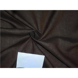 "Two Tone Linen 25% COTTON, 75% LINEN Brown x Black Color 58""inches"