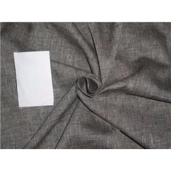 "Two Tone Linen 25% COTTON, 75% LINEN Ivory x Black Color 58""inches"