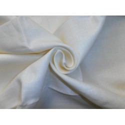"53 mm Cream pure linen fabric 54"" wide/137 cms"