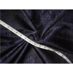 Brocade Fabric Black x Purple 44""