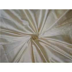 "Silk Dupioni Fabric 108"" Cream X Ivory Color Stripes"