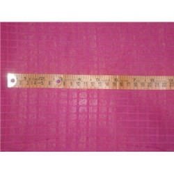 "Cotton Organdy Fabric Leno Checks Design 44"" Lipstick Pink"