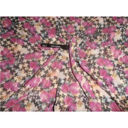 "Polyester Georgette 44"" Wide ~Pink x Multi Color Printed"