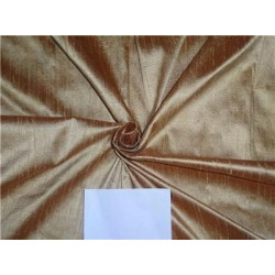 "100% Pure Silk Dupioni Fabric Gold x Brown Shot Iridescent 54"" Slubs"