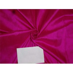 "100% Pure Silk Dupioni Fabric 54"" Hot Pink Color Slubs"