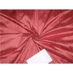 "100% Pure Silk Dupioni Fabric 54"" Deep Rose Color Slubs"