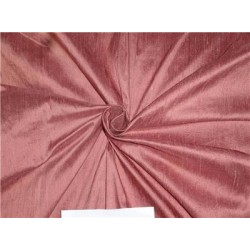 "100% Pure Silk Dupioni Fabric 54"" Dusty Deep Rose Color Slubs"