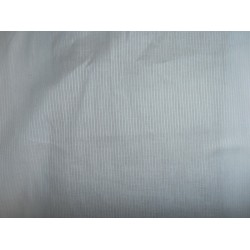"WHITE COTTON VOILE 44"" WIDE -thin rib stripes 3mm"